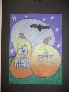 Jamestown Elementary Art Blog: 2nd and 3rd Grade's Cartoon Pumpkins!