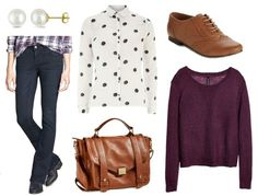 Easy Outfit Formulas: Bootcut Jeans + Button-Down Shirt | College Fashion. Cute outfits in this post!