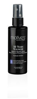 Love this spray! Great for makeup longevity... It Works: Motives 10 years younger Makeup Setting Spray