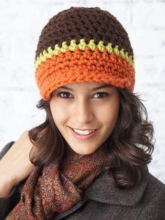 Crochet Peak Hat free pattern