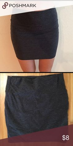 Gray skirt Very soft gray skirt; if you like it just tell me your price and I'll be willing to negotiate because everything has to go :) Forever 21 Skirts Mini
