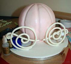 How to Make a Cinderella Coach Birthday Cake   Disney Blog at Magical Kingdoms