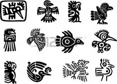 Mexican or maya motifs Stock Vector