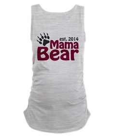 Love this Gray & Red 'Mama Bear' Maternity Tank - Women & Plus on #zulily! #zulilyfinds