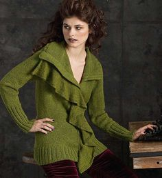 Ravelry: #10 Draped Cardigan pattern by Norah Gaughan http://www.ravelry.com/patterns/library/10-draped-cardigan