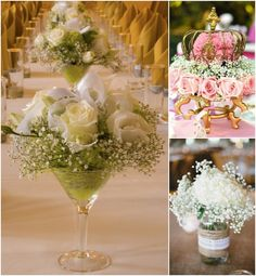 Wedding Ideas: Mix It up with a Baby�s Breath Centerpiece