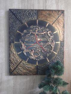 """Купить Часы настенные""""Китайское дерево""""Ручная работа. - золотой, часы ручной работы, китайский стиль"""