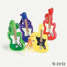 Guitar Bubble Bottle Necklaces. Fresh Beat Band birthday party favors