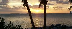 Two palm trees frame the sunset at Fort Zachary Taylor Historic State Park in Key West. Photo by Shawn Shockley.