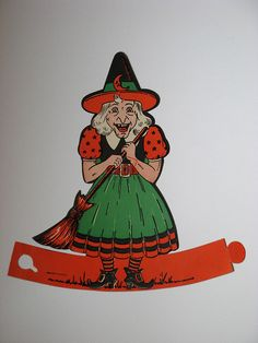 Halloween witch die cut by Tommequins, via Flickr
