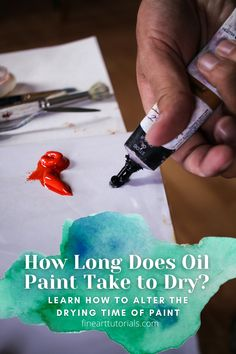 Find out about the drying time of oil paint and how to alter it yourself. #artforbeginners #oilpaintingbeginners #learntopaint #learnoilpainting #arttutorials #oilpaintingtutorials #oilpaint