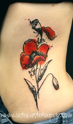 Love Oriental Poppies ~ Tatouage/sketch like OCTOPUS TATOUAGE 5, rue Seré Depoin à Pontoise (95). Tel: 00 33 (1) 34 24 29 89 Mail: info@octopustatouage.com