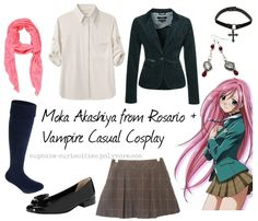 casual cosplay tumblr | Moka Akashiya from Rosario + Vampire Casual Cosplay A request done for ...