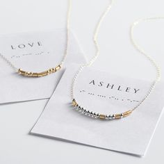 Need a unique gift? Send Customized Morse Code Necklace - Gold & Silver and other personalized gifts at Personal Creations. Morse Code Words, Secret Notes, Morse Code Bracelet, Mentally Strong, My Little Girl, Personalized Gifts, Unique Gifts, Geek Stuff, Gold Necklace