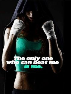 The only one who can beat me is me. by GROWTHatropin, via Flickr