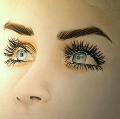53 Ideas Drawing Faces Realistic Colored Pencils Beautiful For 2019 Amazing Drawings, Beautiful Drawings, Cool Drawings, Amazing Art, Drawing Faces, Beautiful Eyes, Eyelashes Drawing, Pencil Art, Pencil Drawings