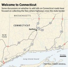 Connecticut bill would reinstate road tolls to raise money for highway projects  http://on.wsj.com/1JLJI7m