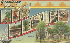 Big Letter Greetings From New Mexico Linen Vintage Postcard Unused