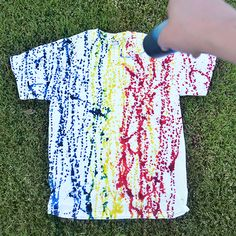 Abstract Drip Dye T-shirt- a fun take on dying, great project for our Teeny Tiny Tie Dye kit