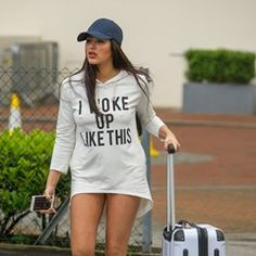 Geordie Shore's Marnie Simpson seen leaving The Lowry Hotel in Manchester