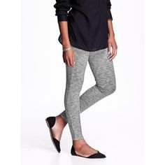 Old Navy Womens Ponte Knit Leggings ($35) ❤ liked on Polyvore featuring pants, leggings, grey, petite, skinny leggings, old navy leggings, petite pants, elastic waist pants and ponte skinny pants