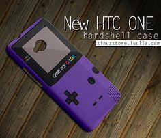 Htc One Case GameBoy purple