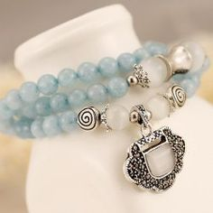 SHARE & Get it FREE | Faux Aquamarine Longevity Lock Bead BraceletFor Fashion Lovers only:80,000+ Items • FREE SHIPPING Join Twinkledeals: Get YOUR $50 NOW!