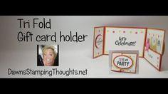 Tri Fold gift card holder