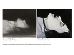 Gerhard Richter vs Marlene Dumas Works based on a same photograph published on Stern of the corpse of Ulrike Meinhof, a founding member of the Red Army Faction (RAF)