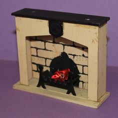 Vintage Dolls House Triang Period Furniture Jacobean Fireplace Ref KM3312   eBay