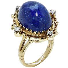 Zlatý prsten Lapis Diamond 1