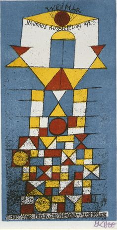 Paul Klee (1879-1940), 1923, Postcard on the occasion of the exhibition at the Bauhaus, lithograph. iL #Bauhaus