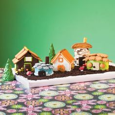 Recipe Fanciful Fairy Village - how awesome for something different for this year's gingerbread houses!