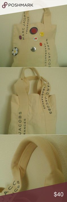 MARC JACOBS TOTE Super cute marc Jacobs very heavy duty canvas tote bag. New never used!  Very large! Marc Jacobs Bags Totes