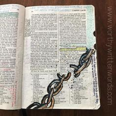 Painting in Your Scriptures- Watercolors and Watercolor Pencils – Worthy Written Words Scripture Painting, Scripture Doodle, Scripture Study, Bible Art, Lds Scriptures, Bible Verses, Bible Study Journal, Scripture Journal, Bible Encouragement