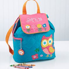 Lovable Owl Embroidered Backpack - this is so cute!  They have a matching lunch bag and duffel bag too! This site has the CUTEST stuff! you have to check it out! It's usually $34.95 but it's on sale right now for their back to school sale for just $26.20!