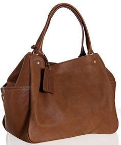 yves saint laurent gianduia pebbled leather multy handbag $1320 #bluefly