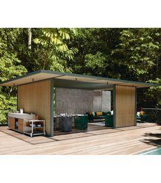 Pavilions PH1 Kettal Pavilion - Milia Shop Outdoor Spaces, Outdoor Living, Outdoor Decor, Diy Pergola, Gazebo, Net Curtains, Design Your Own, Blinds, Living Spaces