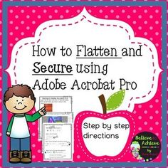 Enjoy this step-by-step guide to flattening and securing resources using Adobe Acrobat Pro using a PC. ********************************************************************* Here are some math resources you might like: ❤No Prep! Elementary Teacher, Elementary Education, Teacher Pay Teachers, Free Teaching Resources, Teacher Resources, Creative Teaching, Teaching Art, Teaching Ideas, Online Music Lessons