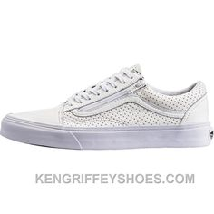 7e9ccc561ed9 Vans Perforated Leather Old Skool Zip (Mens) - True White RSx5f