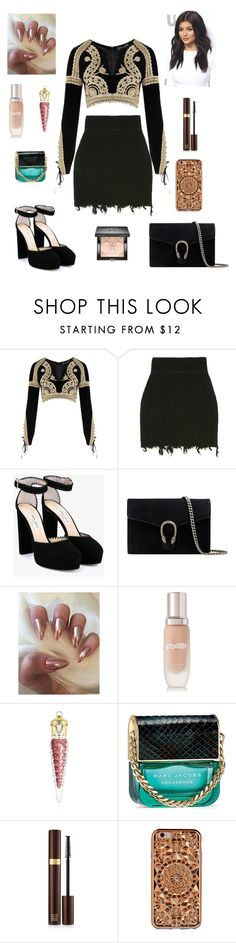 """Untitled #220"" by leah93-1 ❤ liked on Polyvore featuring For Love & Lemons, Jimmy Choo, Gucci, La Mer, Christian Louboutin, Marc Jacobs, Tom Ford, Felony Case and Givenchy"