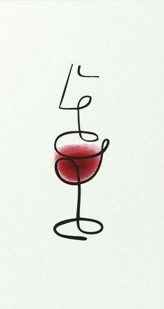 Wine Tasting Illustration #Logo (Via Sommelier Society of America/Pinterest)