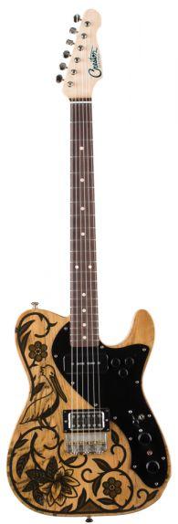 Creston Electric - Sarah Ryan Old Wood Custom. Luthier PH Fred Sarah Ryan, paint (white pine barn beam body)