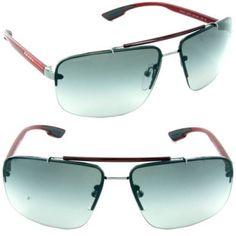 f5503385429f1 Óculos Prada (Linea Rossa) PS52OS Sunglasses-5AV 3M1 Gunmetal (Gray Gradient