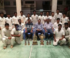 Jain University men cricket team emerged out as champions after defeating Suarana College in Vyooha 2016  inter-collegiate cricket tournamnet.