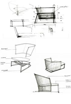 Modern Furniture Sketches masculo chairgamfratesi // gubi http://decdesignecasa.blogspot
