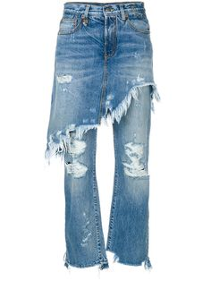 R13 skirted distressed jeans. #r13 #cloth #