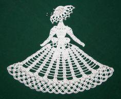 Spring Bride Crinoline Girl Doily. From crochetmemories.com for $3.95,