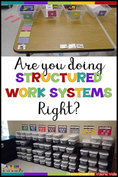 Why Are the Elements of a Work System Important? There is a reason behind every component of a independent work system. Do you know the 4 questions each work system should answer? Click through to find out. Life Skills Classroom, Autism Classroom, Classroom Setup, Classroom Resources, Resources For Autism, Flipped Classroom, Kindergarten Classroom, School Classroom, Classroom Organization