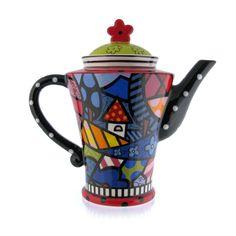 Romero Britto Round Home Teapot